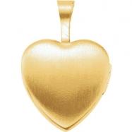 Gold Plated Sterling 12.50X12.00 MM Polished MI PRIMERA COMUNION HEART LOCK