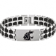 Stainless Steel BRACELET Complete No Setting 08.50 INCH Polished WASHINGTON STATE COUGARS