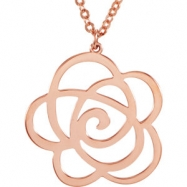 14kt Rose NECKLACE COMPLETE NO SETTINGS 18.00  INCH Polished NONE