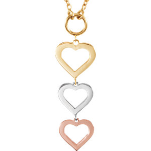 14kt Rose/14kt Yellow/14kt White NECKLACE COMPLETE NO SETTING 18.00 INCH Polished NONE. Price: $287.82