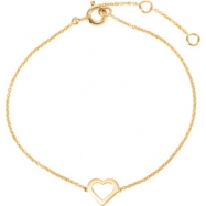 14kt Yellow BRACELET COMPLETE NO SETTING 07.00 INCH Polished NONE