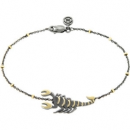 BRACELET CHAIN Yellow BLACK RHODIUM NONE Complete with Stone 18kt Vermeil Polished ARK SCORPION  BRA