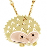 NECKLACE CHAIN Yellow NONE NONE Complete with Stone 18kt Vermeil Polished ARK HEDGEHOG WITH BOX AND