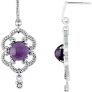 Sterling Silver COMPELTE WITH STONES AMETHYST AND DIAMOND ROUND 08.00 MM Polished NONE