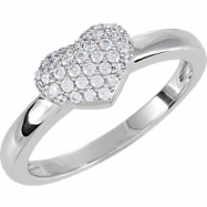 Sterling Silver COMPLETE WITH STONES CUBIC ZIRCONIA SIZE 07.00 06.45X05.62 MM Polished NONE