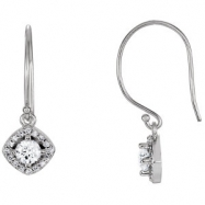 14kt White Diamond 5/8CTW 04.10 mm 5/8CTW Diamond Earrings