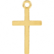 14kt Yellow CHARM Mounting 16.12X08.86 MM Polished POSH MOMMY COLL CROSS CHARM