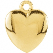 14kt Yellow CHARM Mounting 10.85X08.90 MM Polished POSH MOMMY COLLECT HEART CHARM