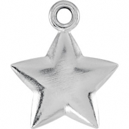 Sterling Silver Charm Mounting 11.50X09.75 mm Polished Posh Mommy Star Charm