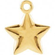 14kt Yellow Charm Mounting 11.50X09.75 mm Polished Posh Mommy Star Charm