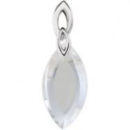 Sterling Silver COMPLETE WITH STONES LIME QUARTZ 36.00X12.00X07.00 MM Polished NONE