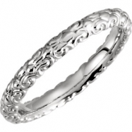 14kt White Band Mounting 06.00 NONE NO STONE NO STONE NONE Polished SCULPTURAL ETERNITY BAND RG MT