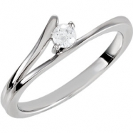 Sterling Silver COMPLETE WITH STONES CUBIC ZIRCONIA SIZE 07.00 Polished NONE