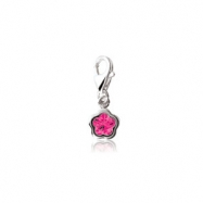 Sterling Silver COMPLETE WITH STONE FUCHSIA NONE NONE