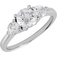 Sterling Silver COMPLETE WITH STONES SIZE 07.00 CUBIC ZIRCONIA Polished NONE