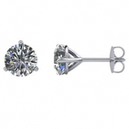 14kt White Pair 1 1/2 CTW SI2-SI3 G-H 1 1/2 CTW Diamond Stud Earrings With Backs