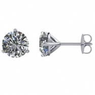 14kt White Pair 2 CTW SI2-SI3 G-H 2 CTW Diamond Stud Earrings With Backs