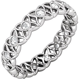 14kt White Band Complete with Stone 07.00 NONE NO STONE NO STONE NONE Polished 1/3 CTW ETERNITY BAND. Price: $1081.17