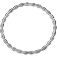 Stainless Steel 07.50 INCH NONE ELASTIC BANGLE BRACELET