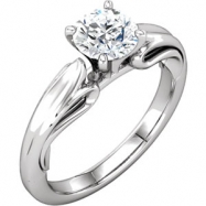 Platinum Engagement Mounting NONE NONE NONE Polished SCULPTURAL ENG BASE RING MTG