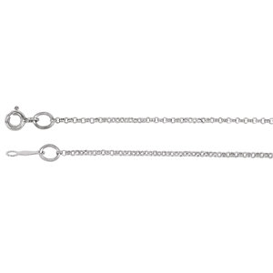 14kt White 01.50 mm Bulk Bulk by Inch Rolo Chain. Price: $15.37