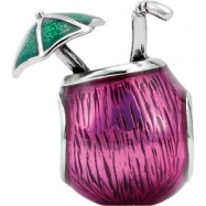 Sterling Silver 13.60X08.60 MM Polished KERA TROPICAL DRINK BEAD
