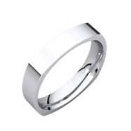 Sterling Silver 04.00 mm Square Comfort Fit Band