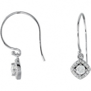 14kt White Diamond 3/8CTW 03.40 mm 3/8CTW Diamond Earrings