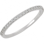 Platinum Band Complete with Stone NONE NO CENTER STONE NO CENTER STONE NONE Polished 1/4CTW DIAMOND