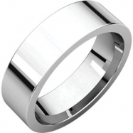 Sterling Silver 06.00 mm Flat Comfort Fit Band