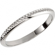 14kt White 6 Polished Matching Solitaire Band