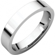 Sterling Silver 04.00 mm Flat Comfort Fit Band