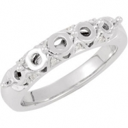 14kt White .03 CT TW SEMI NONE DIAMOND SEMI-MOUNT RING