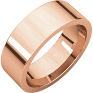 14kt Rose 07.00 mm Flat Comfort Fit Band