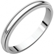 Sterling Silver 02.50 mm Milgrain Band