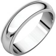Sterling Silver 05.00 mm Milgrain Band