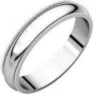 Sterling Silver 04.00 mm Milgrain Band