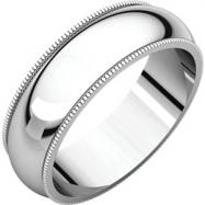 Sterling Silver 06.00 mm Milgrain Band
