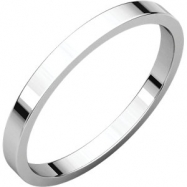Sterling Silver 02.00 mm Flat Band