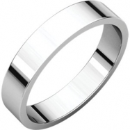 Sterling Silver 04.00 mm Flat Band