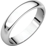 Sterling Silver 04.00 mm Half Round Band