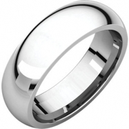Sterling Silver 06.00 mm Comfort Fit Band