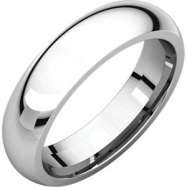Sterling Silver 05.00 mm Comfort Fit Band