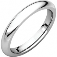 Sterling Silver 03.00 mm Comfort Fit Band