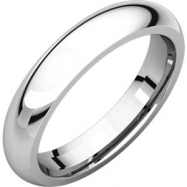 Sterling Silver 04.00 mm Comfort Fit Band