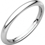 Sterling Silver 02.00 mm Comfort Fit Band