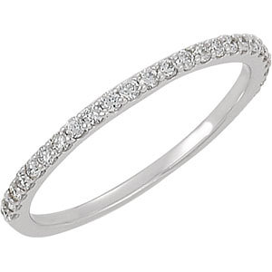 14kt White Band Complete with Stone NONE NO CENTER STONE NO CENTER STONE NONE Polished 1/4CTW DIAMON. Price: $722.06
