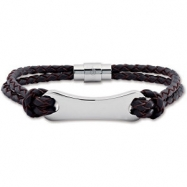 08.50 INCH NONE 3MM LEATHER BRACELE