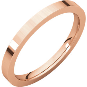 14kt Rose 02.00 mm Flat Comfort Fit Band. Price: $264.18