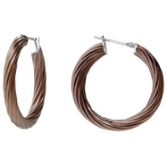 Stainless Steel 6.5 X 45MM-CIP NONE TWISTED HOOP EARRINGS